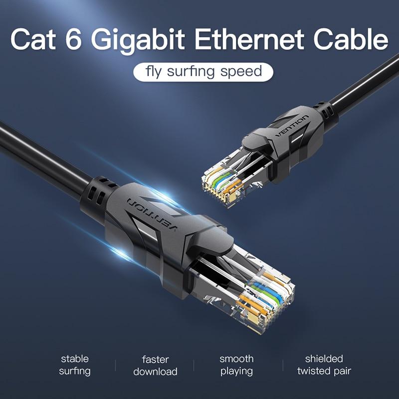 Priključek Vention rj45 High Speed UTP CAT 6 Ethernet kabel - Računalniški kabli in priključki - Fotografija 2