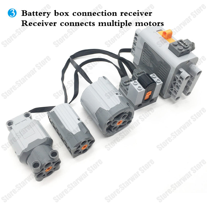 Technic Train Motor Remote Receiver LED Light Battery Box Power Functions technic Power functions Blocks Accessories in Blocks from Toys Hobbies