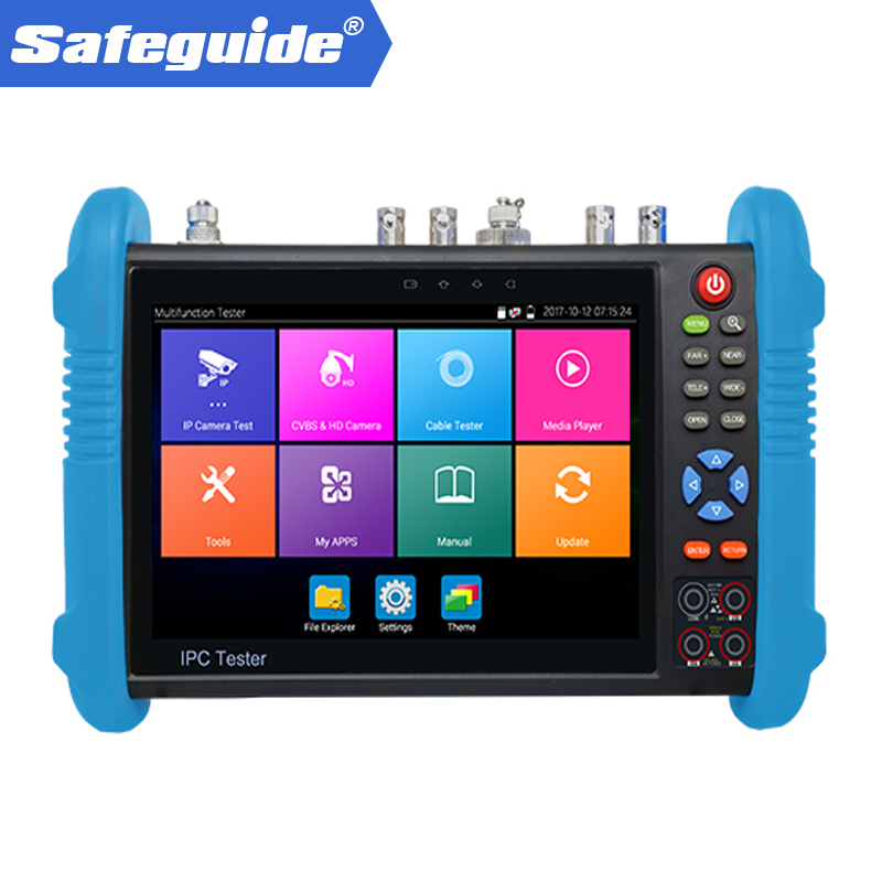 7 Inch IP+Analog +AHD+ TVI+ CVI +SDI ONVIF Cctv Tester With HDMI Input And RJ45 TDR Cable Test Full Function CCTV Camera Tester
