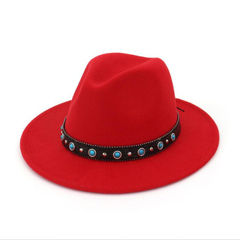 Fieltro de lana las mujeres Fedora sombreros con cinturón mujeres Vintage  sombrero de lana Fedora caliente Jazz sombrero Chapeau Femme feutre Panaman  ... 15f60463bc1
