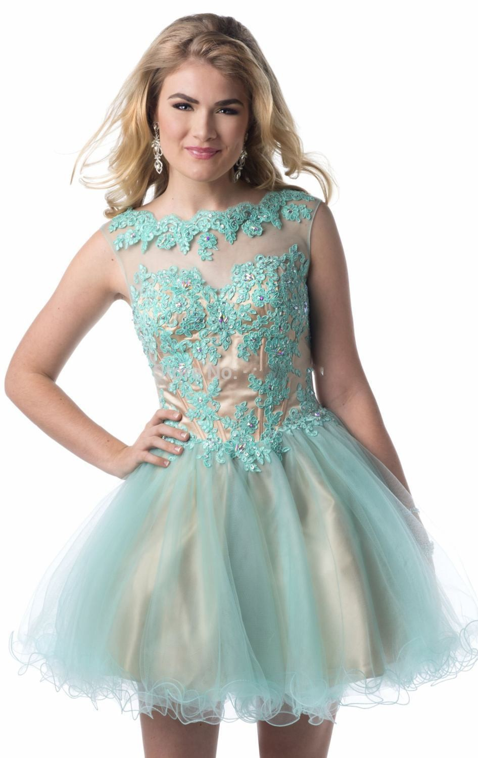 2015 Cute Junior High Graduation Dresses Light Pink Homecoming Lace ...