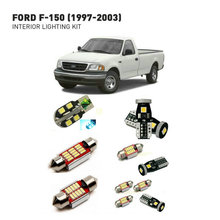 Led interior lights For Ford f-150 1997-2003  12pc Led Lights For Cars lighting kit automotive bulbs Canbus eosuns led tail lights assembly reversed lights brakefor ford f 150 f150 2016 2017