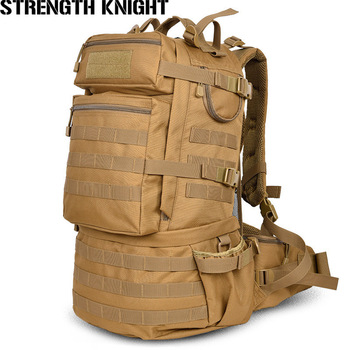 Mochila táctica militar de gran capacidad de 50L para hombre, morral de viaje, impermeable, de camuflaje, para senderismo, militar