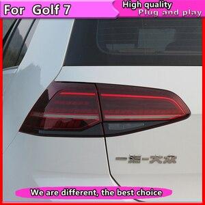 Image 4 - Luz traseira para carro vw golf 7, 2013 2015 golf7 mk7 led, sinal de seta dinâmico, luz traseira gti r20 lâmpada traseira