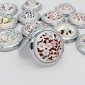 Portable Cute Round Silver Diamond Metal Pocket Mirror