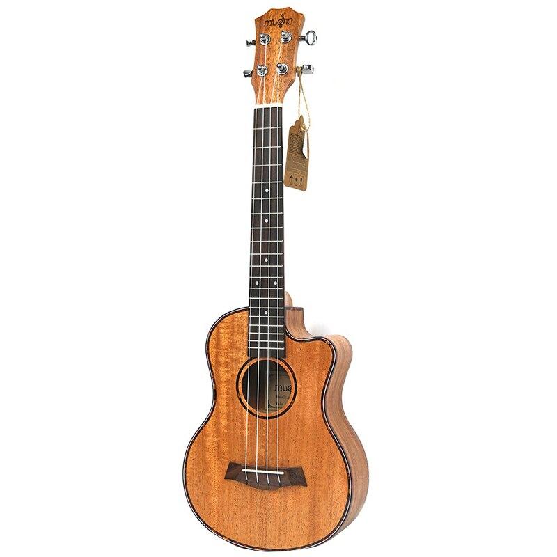 Kits ukulélé de Concert 23 pouces en acajou Uku 4 cordes Mini guitare hawaïenne avec sac accordeur Capo sangle pique choix pour débutant Mu - 2