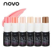 NOVO Brand Face Matte Blush Cream Stick Make Up Rouge Cheek Mineral Blusher Set