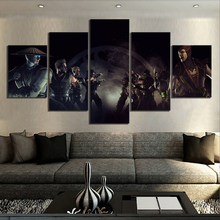 5 Piece Canvas Paintings Mortal Kombat Game Poster Final Fight Pictures Wall for Home Decor