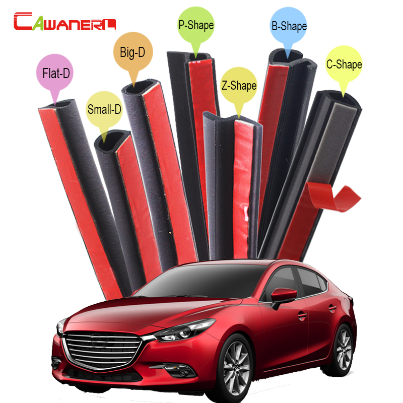 Cawanerl Car Hood Door Trunk Rubber Sealing Seal Strip Kit Weatherstrip Seal Edge Trim Noise Control For Mazda 2 323 3 626 cawanerl for peugeot 407 408 508 607 301 car accessories seal edge trim weatherstrip rubber sealing strip kit noise control