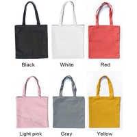 2019 Multicolor High-Quality Women Men Handbags Canvas Tote bags Reusable Cotton grocery Zippered shopping bag Eco Foldable