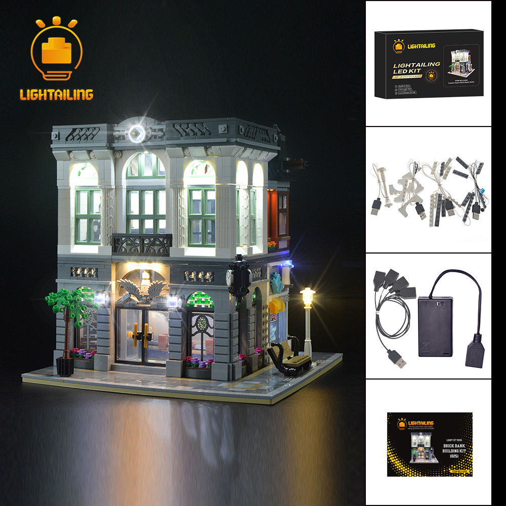LIGHTAILING Led Licht Up Kit Für Creator Ziegel Bank Licht Set Kompatibel Mit 10251-in Sperren aus Spielzeug und Hobbys bei  Gruppe 1