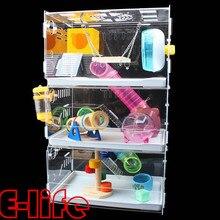 transparent hamster cage