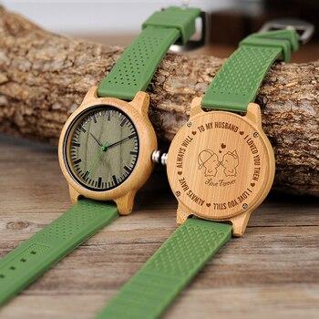 Reloj de pulsera de silicona de cuarzo personalizado con grabado de su propio logotipo para hombre, el mejor regalo para el regalo de cumpleaños del marido