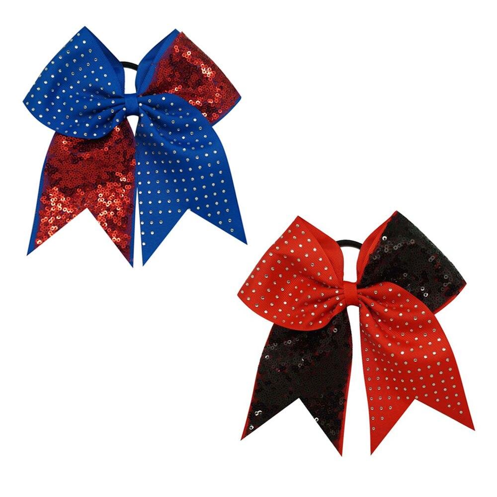 af5e323c ᐅ7 ''Boutique Cekiny Rhinestone Cheer Łuki dla Dziewczynek Ponytail ...