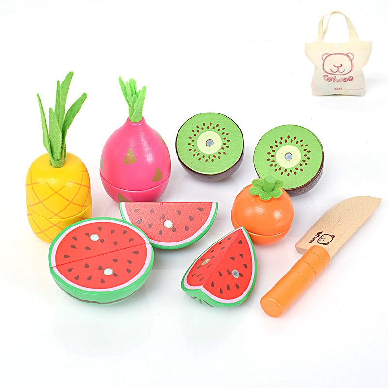 Toy Children Gift Magnetic Cut Fruits And Vegetables Meet