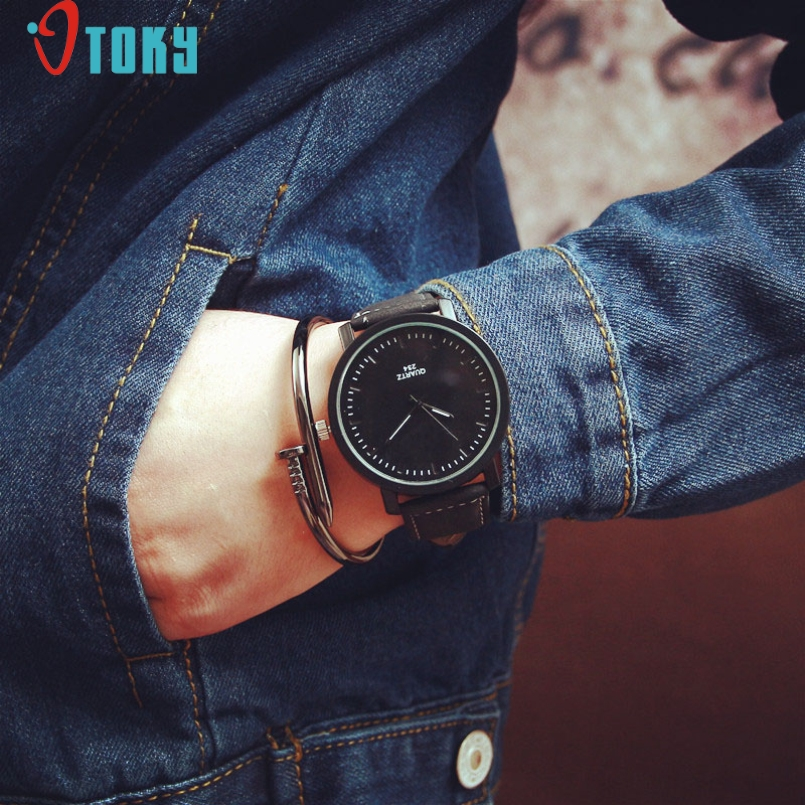 Excellent Quality OTOKY Relogio Masculino Erkek Kol Saati Reloj Mujer Watch Men Women Round Case Quartz Analog Wrist Watch