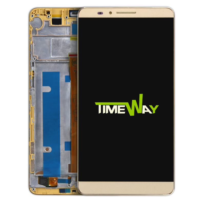 DHL 10pcs for Huawei Mate 7 LCD Display And Touch Screen With Frame Assembly For Huawei Mate 7 Smart phone