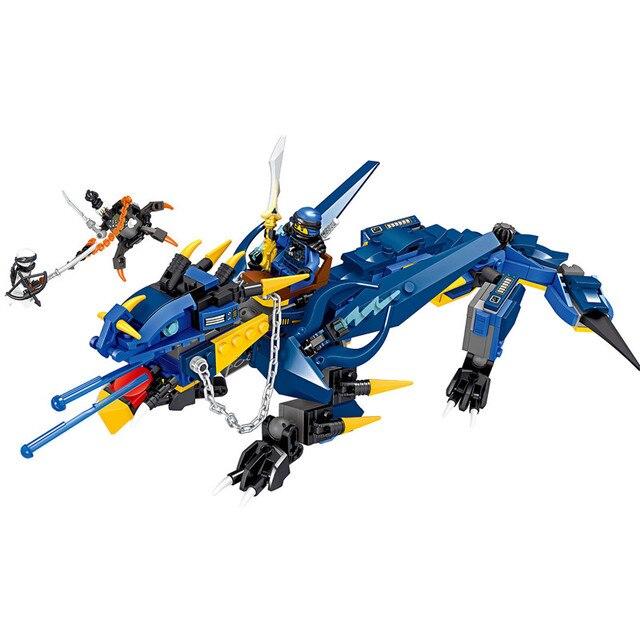 New Two-mudando a Tempestade Dragão Kit de Montagem Blocos de Construção de Brinquedos As Crianças Presentes