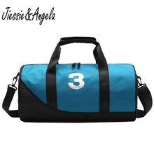 Jiessie&Angela Yoga Fitness Gym Bags Handbags For Women Shoes Travel Training Waterproof Shoulder Pool Beach Big Bag
