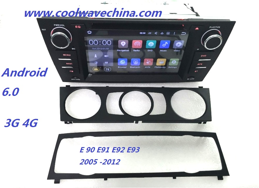 imágenes para 2din coche radio dvd gps android 6.0 Quad core Para BMW E90 e91 e92 e93 (2005-2012) con Bluetooth Phonelink BT 1080 P Ipod 4G
