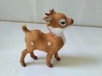 Simulation Sika Deer Model Polyethylene Real Furs Deer 13x11cm Handicraft Figurines Prop Home Decoration Toy Gift