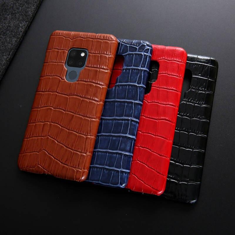 Estojo De Couro genuíno Para Huawei Companheiro 20 Pro Case Capa Protector Moda Coque Para Huawei Companheiro 20/Companheiro 20Pro caso Fundas Capa