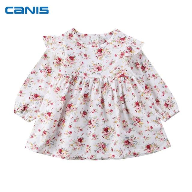 5dab9c875ede Newborn Infant Toddler Baby Girls Floral Princess Dress Christmas ...