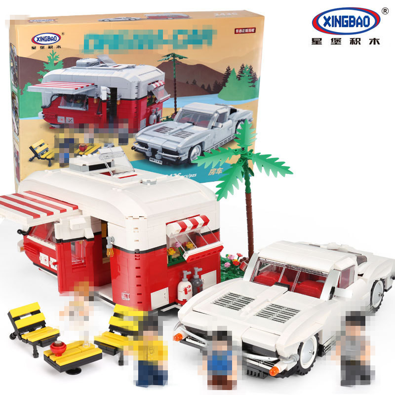 XingBao 08003 2436Pcs New Creative Series The MOC Camper Set Children Educational Building Blocks Bricks Toys Model Gifts in stock new xingbao 01101 the creative moc chinese architecture series children educational building blocks bricks toys model
