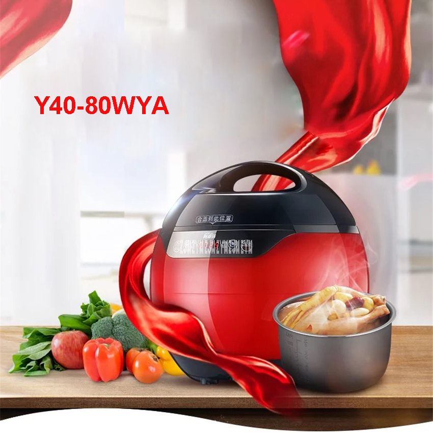 Y40-80WYA Electric Pressure Cooker Double Gallbladder 4L Intelligent Household Electric Pressure Cooker 220V/ 50 Hz 3-4 people mini electric pressure cooker intelligent timing pressure cooker reservation rice cooker travel stew pot 2l 110v 220v eu us plug