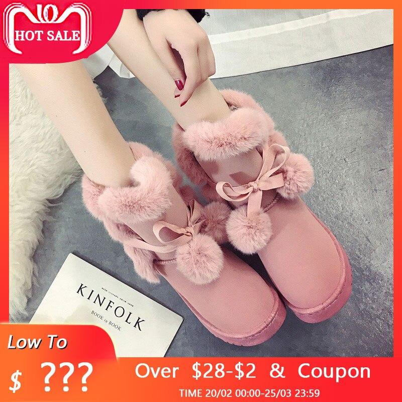 81dcba4b Caliente mujer botas de invierno nieve botas de invierno zapatos de tobillo botas  para mujer zapatos de mujer invierno botas mujeres 2018 botas para mujeres