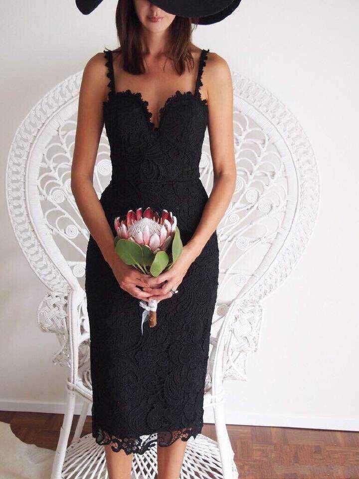 Summer Style White Black Lace Dress V Cami Bodycon Sexy cheap clothes vestidos de festa mujer Casual office Midi Dresses 5