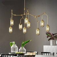 Postmodernen Eisen glas Lampenschirm anhänger lampe lichter kronleuchter beleuchtung led hanglamp loft decor lampen leuchten wohnzimmer-in Pendelleuchten aus Licht & Beleuchtung bei