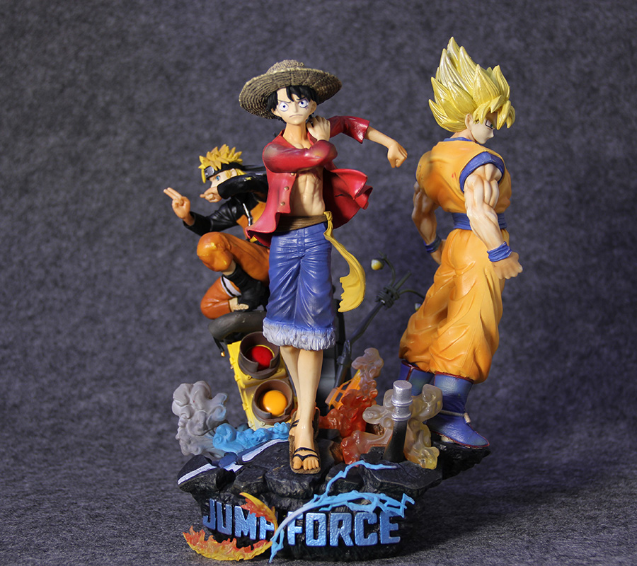 Game Anime JUMP FORCE Statue Dragon Ball Son Goku One Piece Luffy Uzumaki Naruto 7 Figure Model Toys Collector image