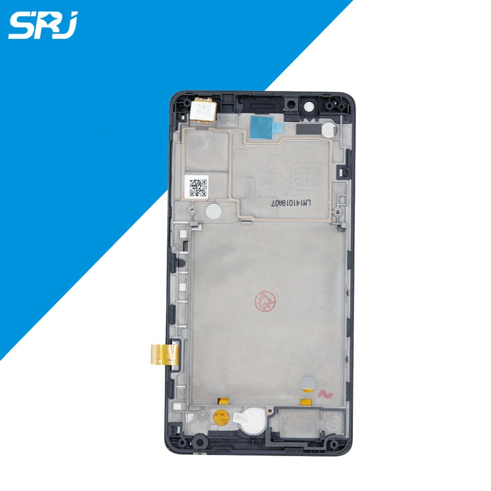 ФОТО Original 5inch Black For Lenovo A536 LCD Display Touch Screen Digitizer Full Assembly with Frame Replacement Repair Parts