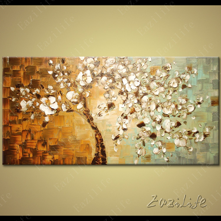 Canvas Painting palette knife 3D texture acrylic flower painting ...