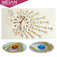 Meian Special Shaped Diamond Embroidery Animal Peacock Clock Full 5D DIY Diamond Painting Cross Stitch 3D
