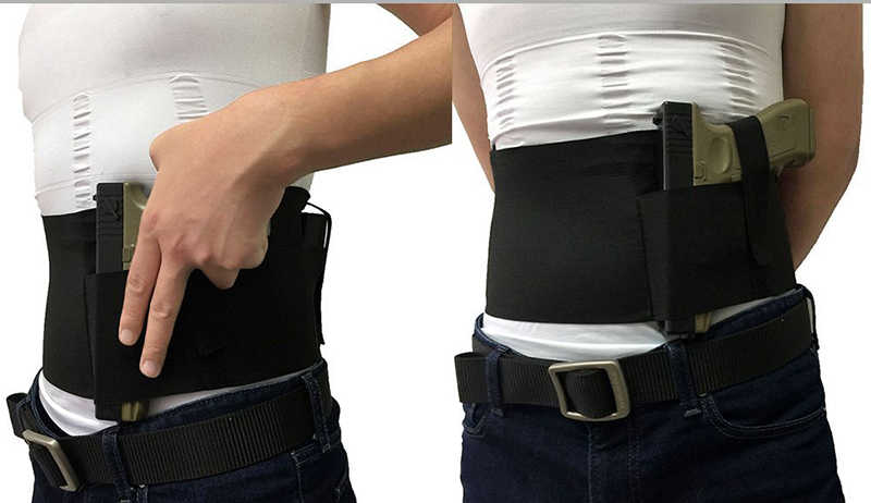 Универсальная сумка-кобура с карманом для журналов/мешочком и 2 эластичными ремнями для мужчин и женщин подходит для Glock, Ruger LCP