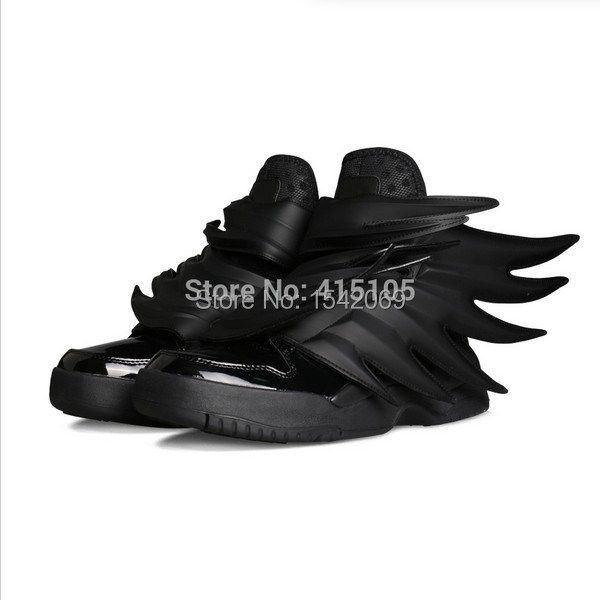 2015 Free Shipping Wholesale Jeremy Scott Black Batman Men s Women s  Hip-hop JS Wings 3.0 Sneaker Shoes Eu36-44 czhjsbm d59b9523ea