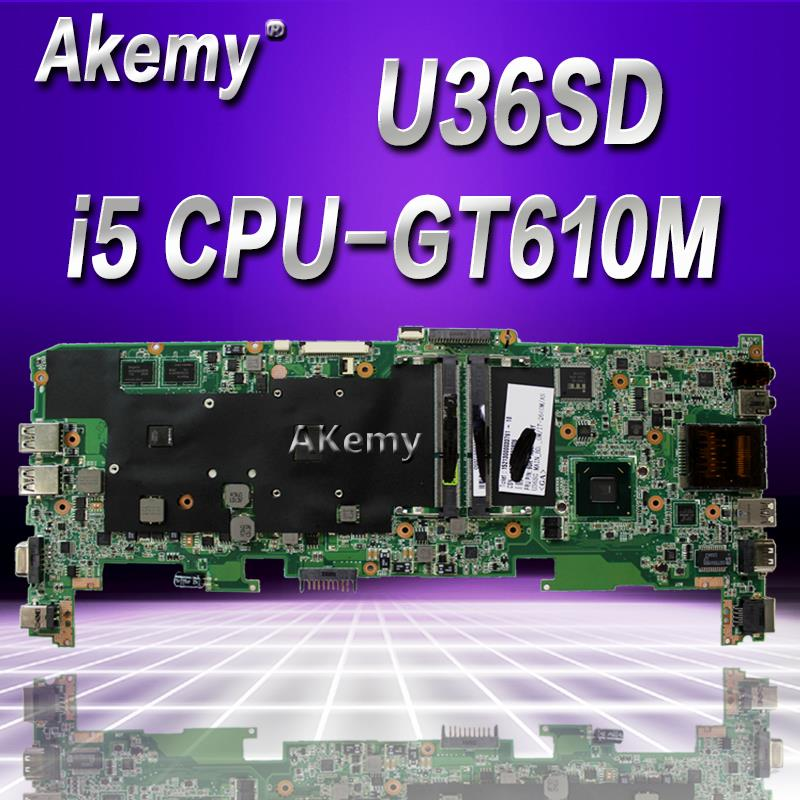 Akemy 90 days warranty! laptop U36SD U36S U36SG U44S U44SG motherboard REV 2.1 with i5 SR041 Cpu fit for Asus U36SG U44SG mainAkemy 90 days warranty! laptop U36SD U36S U36SG U44S U44SG motherboard REV 2.1 with i5 SR041 Cpu fit for Asus U36SG U44SG main