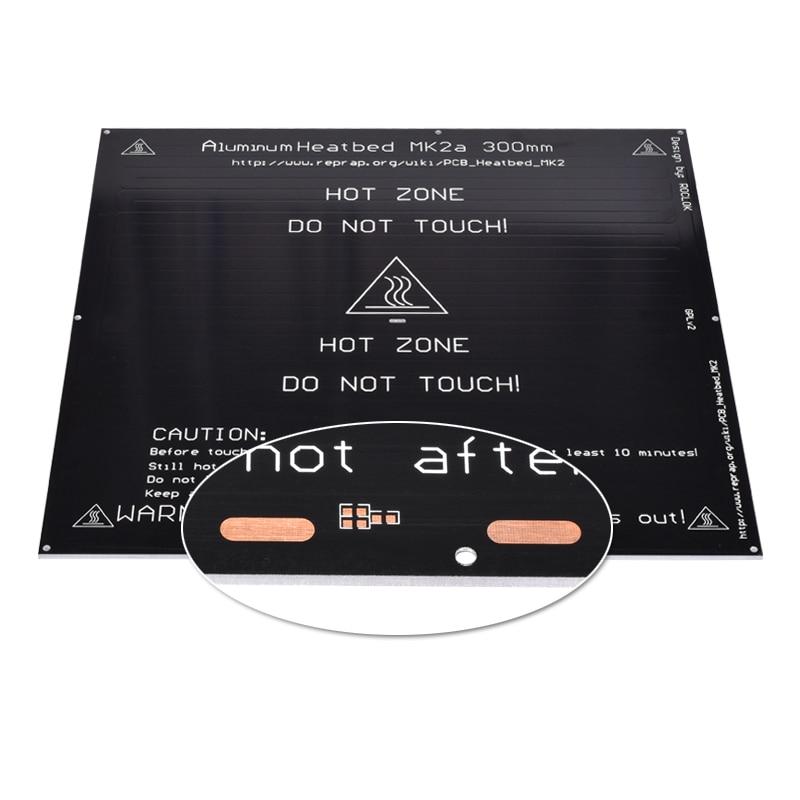 MK2A 300*300*3.0mm RepRap rampes 1.4 PCB plaque chauffante en aluminium pour lit chauffant Mendel pour imprimante 3D MK2B lit chaud - 5
