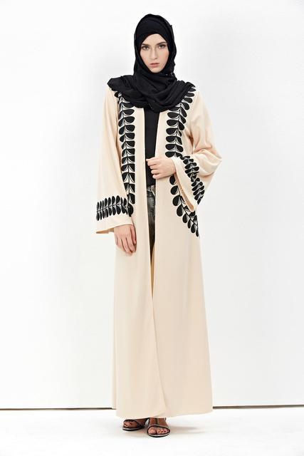 2016 cardigan chilaba turco Musulmán ropa de mujer abrigo largo dubai moda de alta calidad de la rebeca outwear
