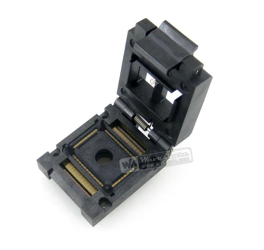 2018 Module Qfp128 Tqfp128 Lqfp128 Pqfp128 Fpq-128-05-03a Qfp Socket Adapter Programmer Enplas 05mm Pitch Clamshell