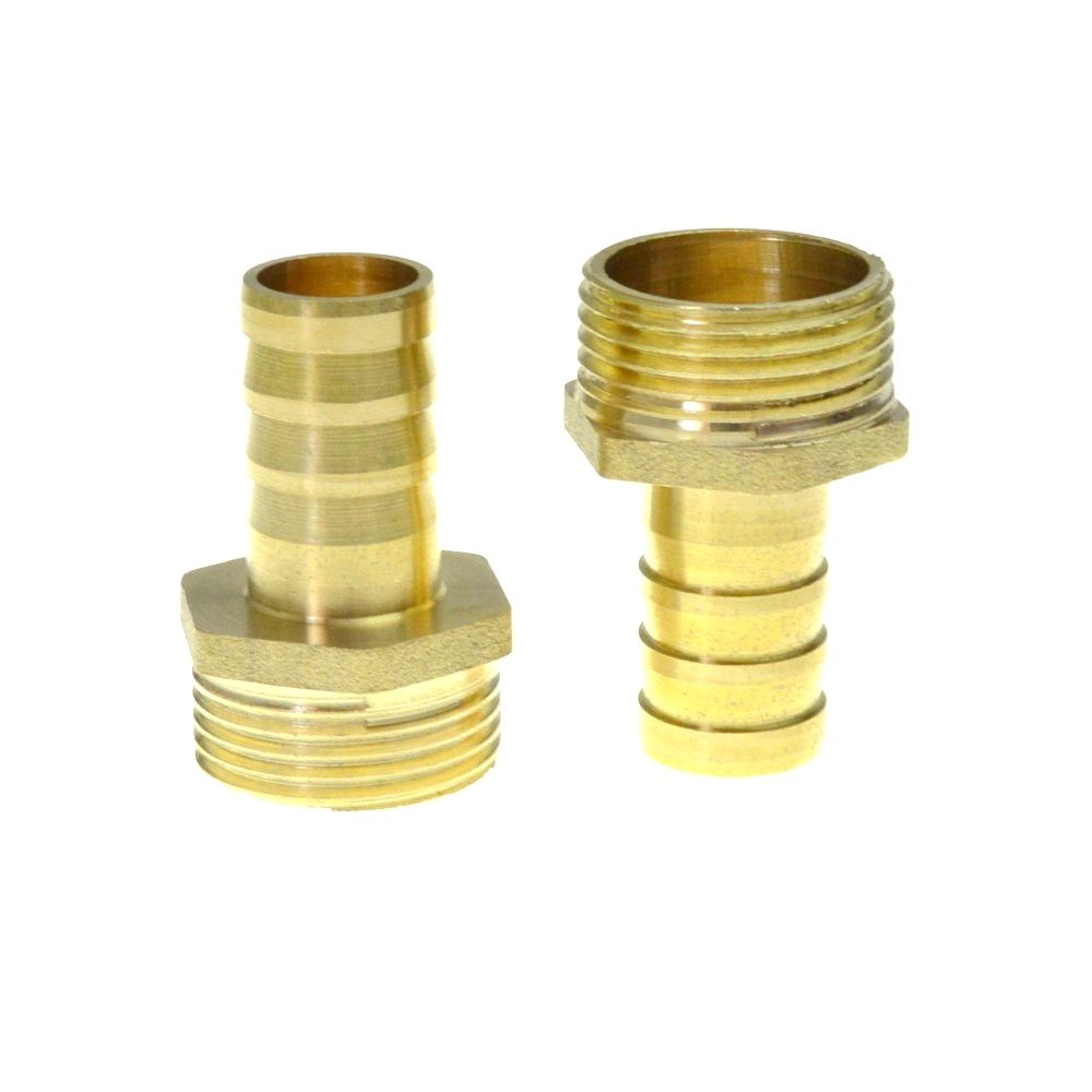 8mm 10mm 12mm 14mm 16mm 19mm 25mm Hose Barbed Tube 3/4 inch Male Thread Dia 25mm Brass Barbed fitting