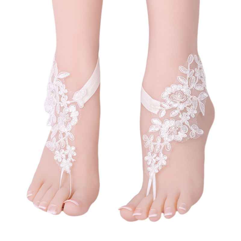 Sandals Jewelry Bridal Accessories Charming Simulated Pearl Foot  Anklets