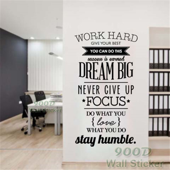 Dream Inspiration Quote Wall Stickers Diy Home Decoration Art Decor Decal Dq2017430