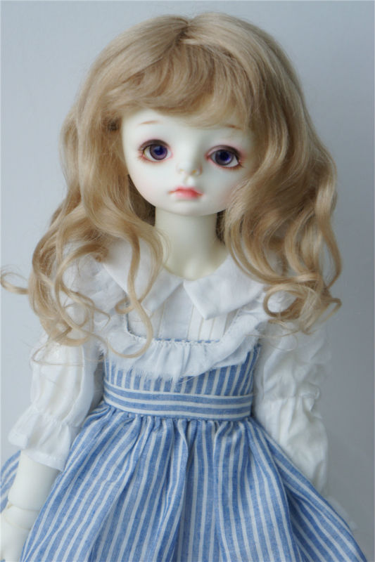 D2031L 1/3 23-25CM mohair BJD doll wigs 9-10 inch Long European princess curly doll wigs jd145 msd synthetic mohair doll wigs 7 8inch long curly bjd hair 1 4 doll accessories