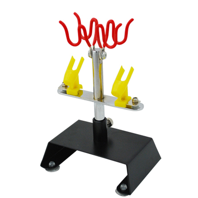 Table Top Airbrush Holder Station Stand Holds 4 Airbrushes Swivel Tilt Set For Body Paint