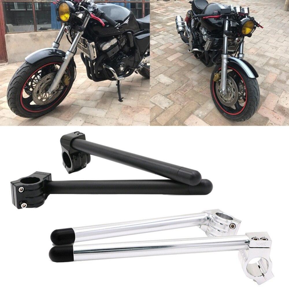 2 pz/set Moto Manubrio Da Corsa Regolabile CNC 31/32/33/35/37/39/41 /50/51mm Clip Su Ons Forcella Manubrio Handle Bar #280958