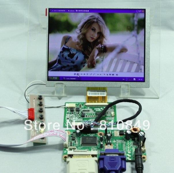 DVI VGA LCD Controller Board+7 CLAA070MA0ACW 800X600  LCD Screen