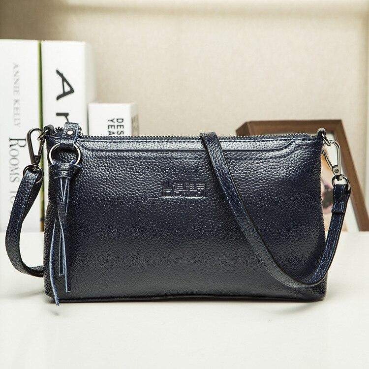 2017 Hot Sale Women Genuine Leather Crossbody Bag Shoulder Bag Messenger Bag Clutch Bag Fashion Design Famous Brand 1001